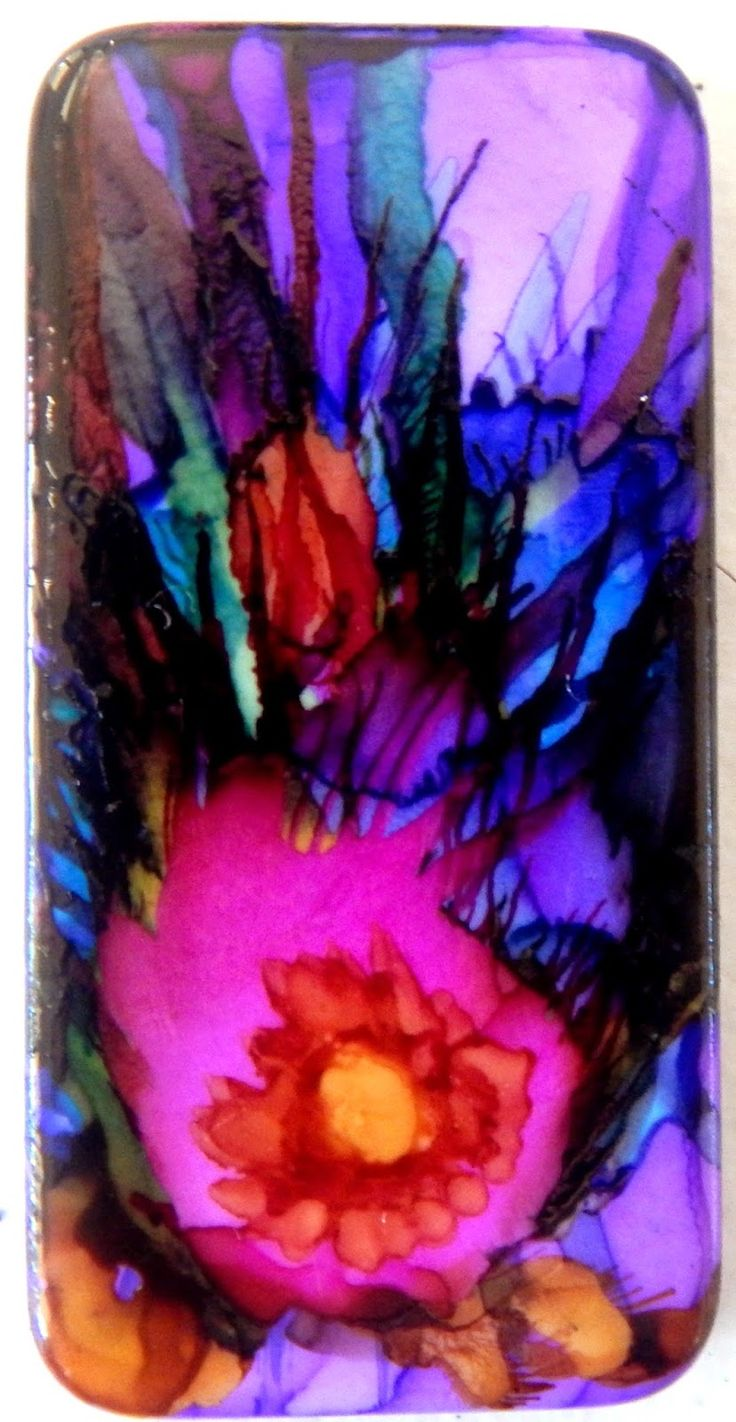Tipsy Gypsy Art Co - alcohol ink on dominoes tiles!