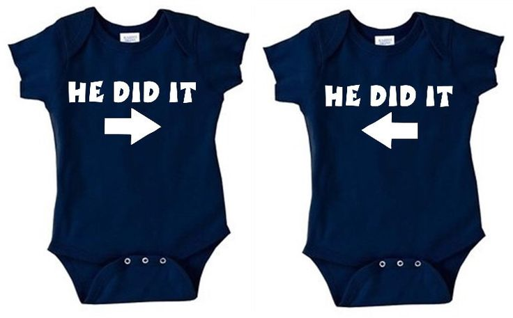 He did It Matching TWINS set of 2 baby bodysuits outfits Funny twin gift idea for baby shower TWIN BOYS navy blue by Ilove2sparkle on Etsy https://www.etsy.com/listing/289798159/he-did-it-matching-twins-set-of-2-baby
