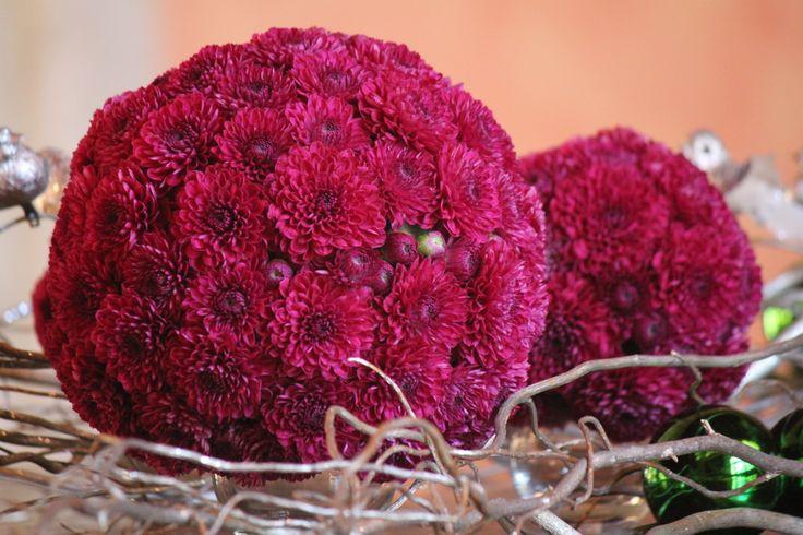Esferas de crisantemos
