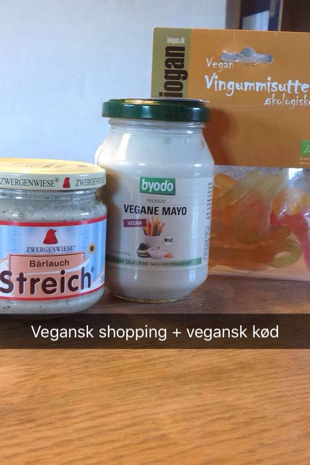 Vegan garlic cheese, vegan mayonnaise, vegan candy & vegan meatballs and sausages that I'll taste later! Sooo happy