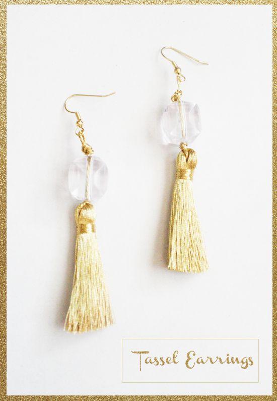 DIY: Holiday Tassel Earrings