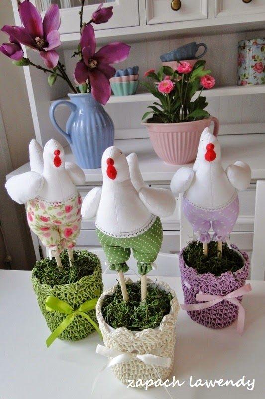 zapach lawendy: Wielkanocne ozdoby hand made