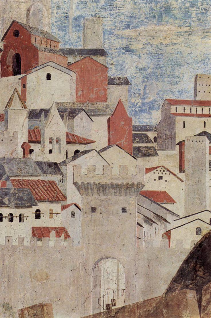 """Piero della Francesca - Dettaglio da il """"Ritrovamento delle tre croci e verifica della croce"""" facente parte delle storie della Vera Croce nella cappella maggiore della basilica di San Francesco ad Arezzo, databile al 1458-1466."""
