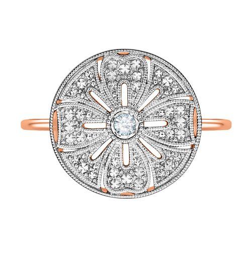 Bague de fiançailles Guérin Joaillerie x Delphine Manivet en or rose et diamants, 890 euros