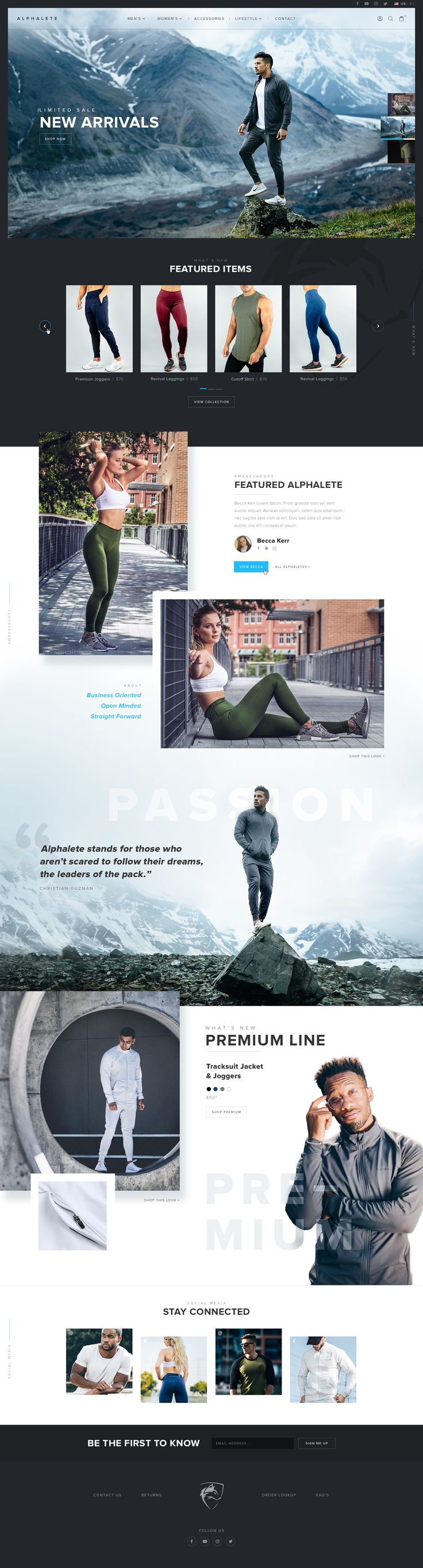 Alphalete website concept  |  Christian Guzman  |  By: Mike Delsing