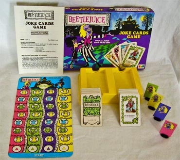 Beetlejuice (cartoon) Joke Cards Game!: Collectibles 1989, Material Interaction, Beetlejuice Cartoon, Card Games, Cartoon Jokes, Beetlejuice Toys, Joke Cards