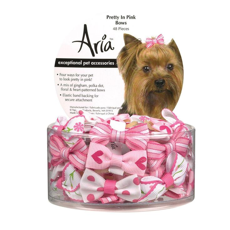 TP Aria Pretty In Pink Bow Canister 48pc
