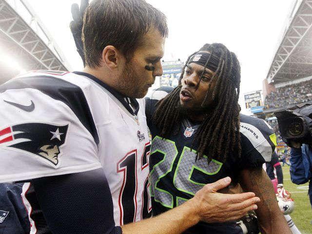 Seahawks CB Richard Sherman taunts Tom Brady on Twitter via @USATODAY