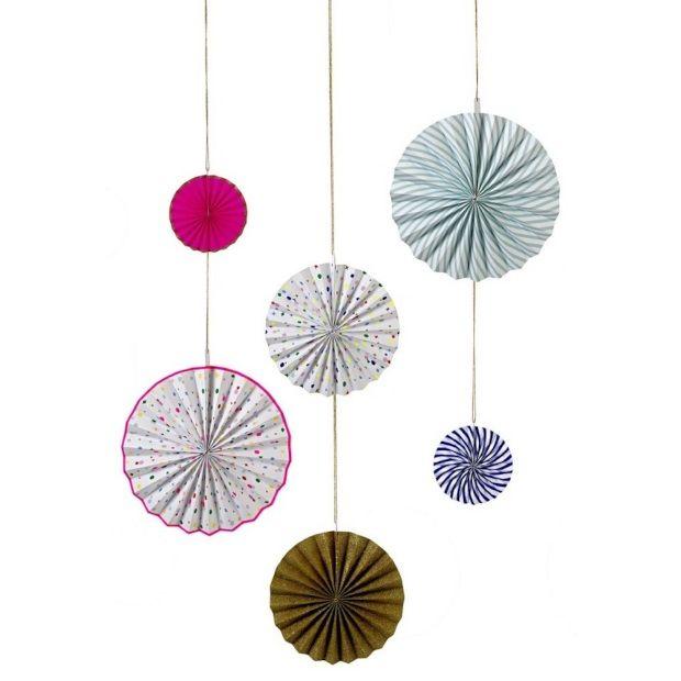 Meri Meri Papieren Decoratie Pinwheel Set van 6 - Sweet Charms - afbeelding 1