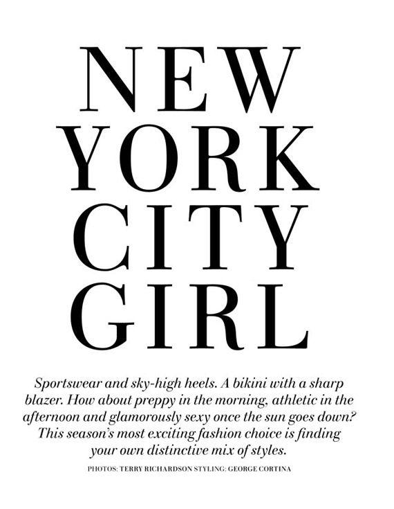 "H&M Spring 2010 Magazine: Natasa Vojnovic ""New York City Girl"" – nitrolicious.com"