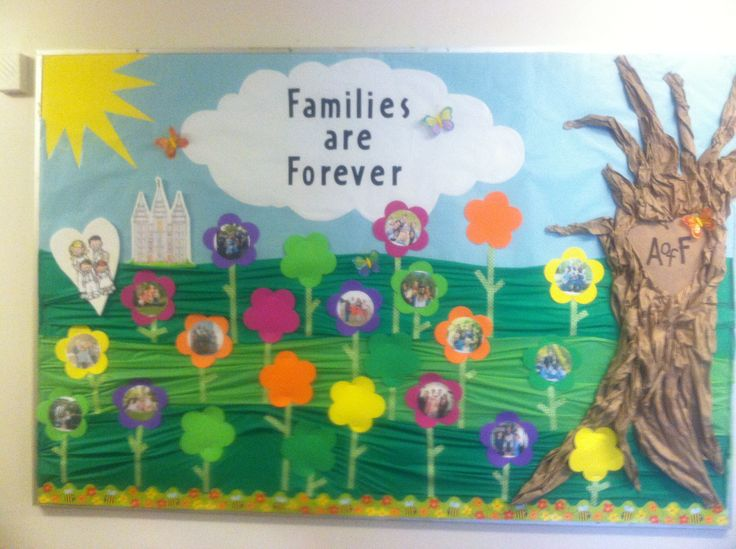 1000 images about church classroom lds primary for Family display board ideas