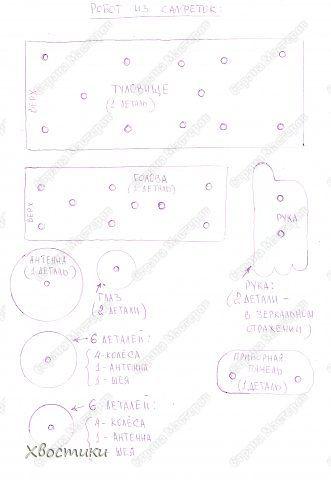 Мастер-класс Поделки динамические Поделки для мальчиков День космонавтики День рождения Моделирование конструирование Робот из салфеток МК+шаблоны Салфетки Трубочки коктейльные фото 4