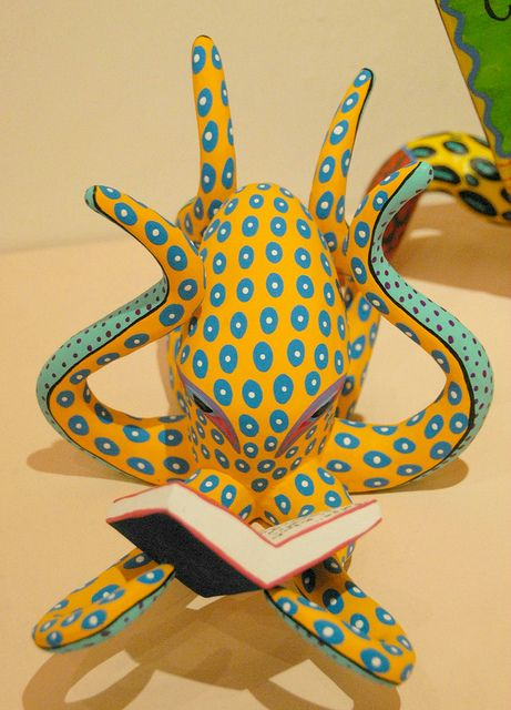 Octopus Reads a Book Mexico by Teyacapan, via Flickr