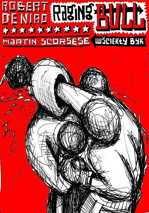 Raging Bull, Scorsese, Polish Poster