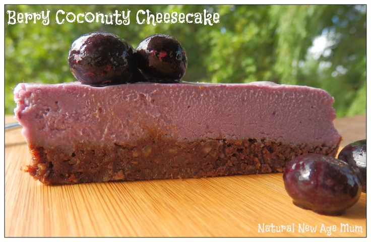 Berry Coconuty Cheesecake - thermomix, gluten free, vegan, sugar free, dairy free, YUM!