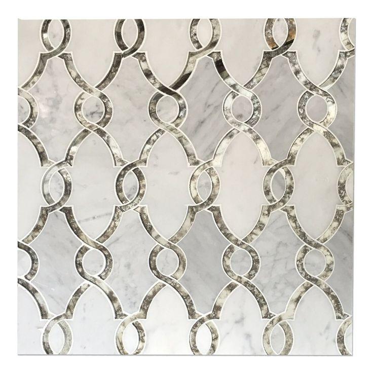 Bellagio Bianco Carrara White Antiqued Mirror Luxury