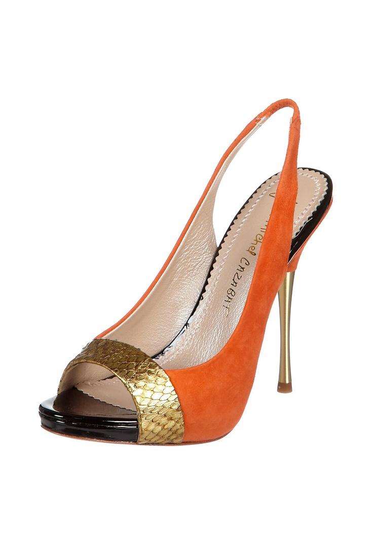 Zapatos naranjas de verano góticos para mujer vI6HAJP8