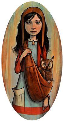 owl - from http://luxetoile.blogspot.com/: Kelly Vivanco, Owl Art And Illustration, Pet, Owlcarrier, Artist, Painting, Owls, Owl Carrier, Hoot