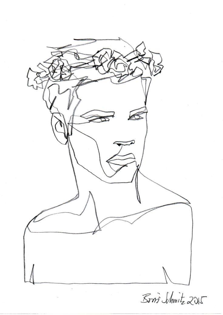 "borisschmitz: ""Gaze 227″, one-continuous-line-drawing by Boris Schmitz, 2015» click here for my portfolio «"