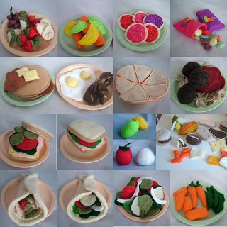 All Twisted Up: Tutorials, Recipes & Patterns  Tons of felt food tutorials