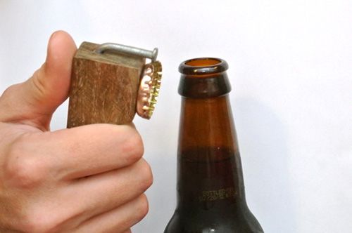 Rudimentry and classy Bottle opener; rustic and good for handmade gift for men