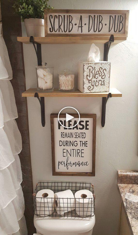 Please Remain Seated During Entire Performance Wood Signs Bathroom Decor Funny Bathroom Si Badezimmer Dekor Kleines Bad Dekorieren Badezimmer Dekor Diy