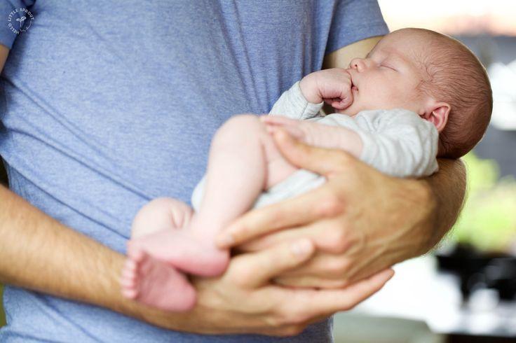 veilig in papa's grote armen