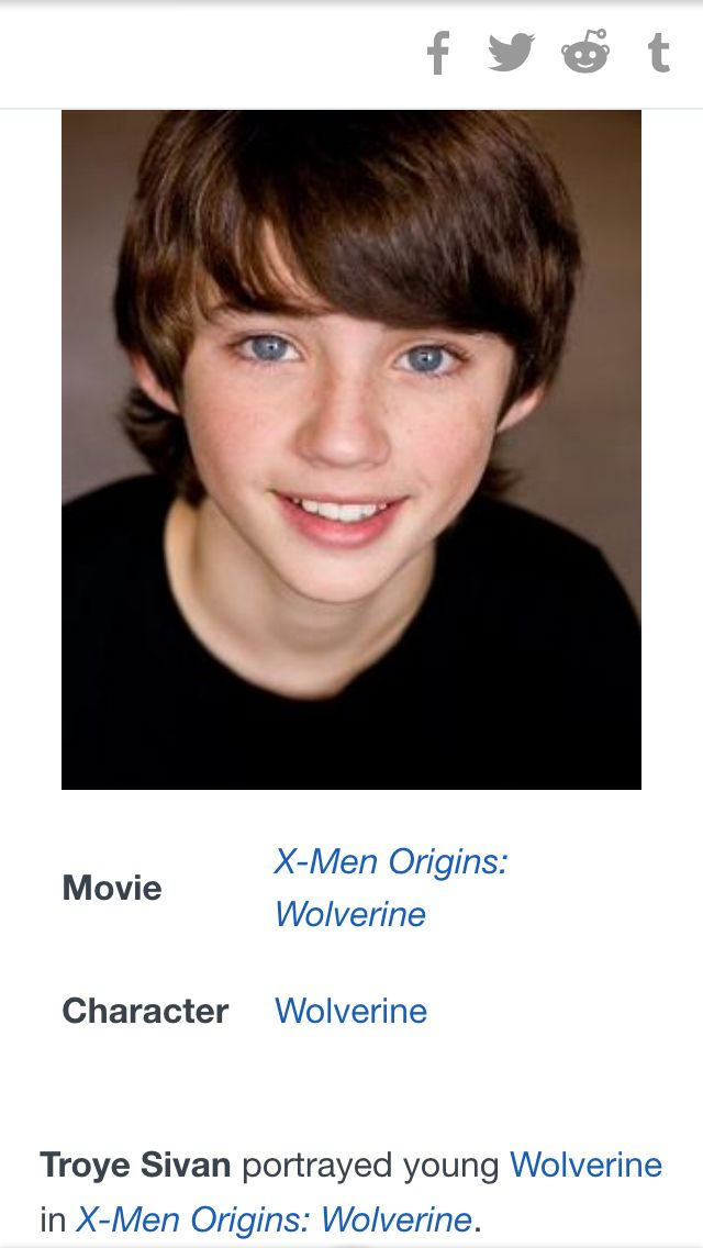 TROYE SIVAN PLAYS YOUNG WOLVERINE IN X-MAN ORIGINS WOLVERINE. OOOMMMGGGG!!!!!!