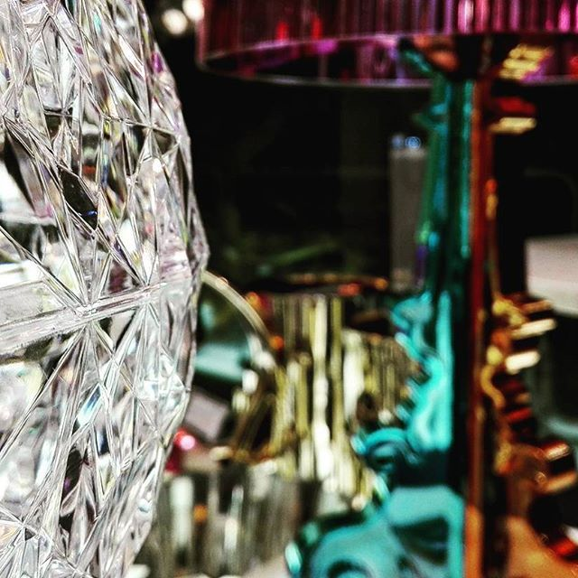 #glass made #plastic! Magic of #Kartell in stunning #lamps