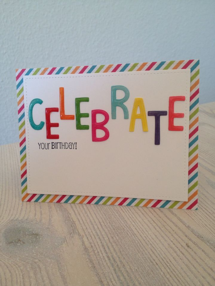 Celebrate your birthday card.