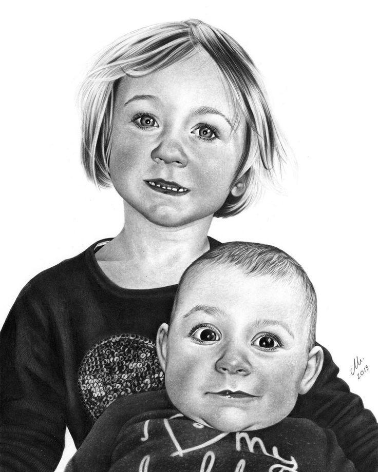 Werbung | Danke liebe @boarischmadl93 für deinen Auftrag ❤️ | Klassische Zeichnung auf A4 . . . #geschwister #liebe #geschwisterliebe #mamablogge…