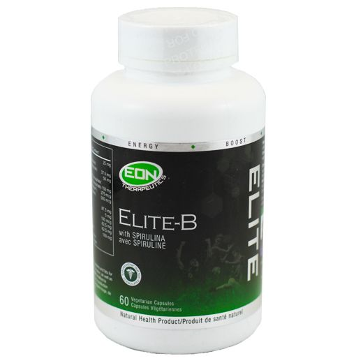 EON's Elite-B is an innovative vitamin B complex supplement, delivering a complete spectrum of B vitamins fortified with Organic Spirulina for a balanced synergistic effect.