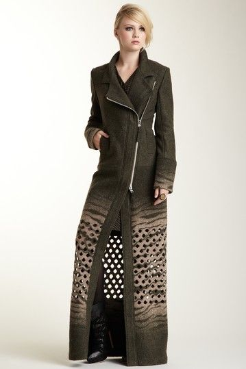 L.A.M.B. Mid-Calf Lazer Cut Boil Wool Coat by Last Chance: Winter Wardrobe on @HauteLook