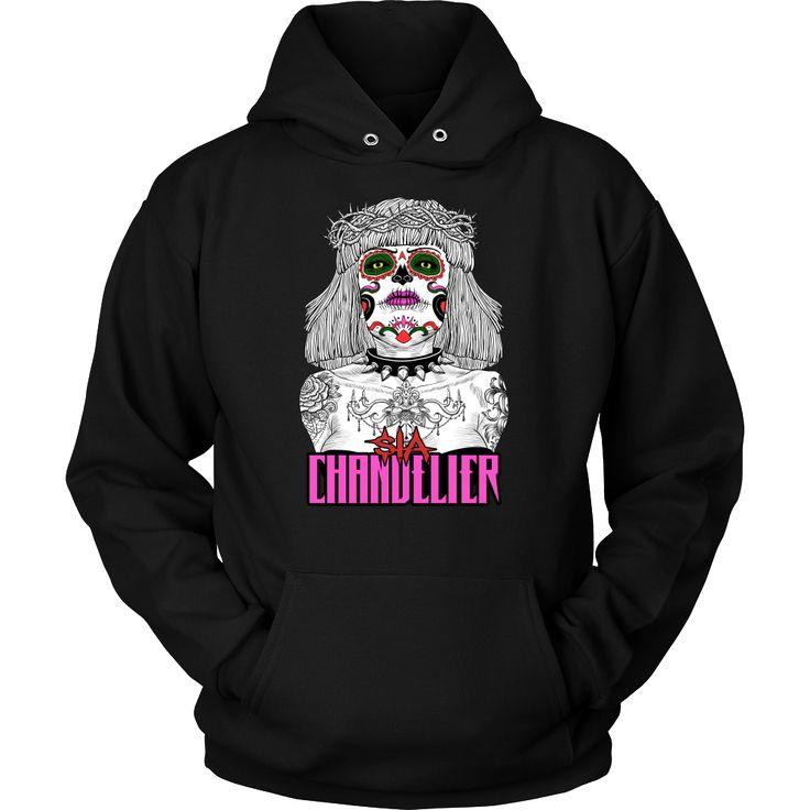 Sia - Chandelier (1) metal hoodie. USD 17.59 We ship worldwide! ------------------- metal head, black metal, pop music, fashion, clothing,
