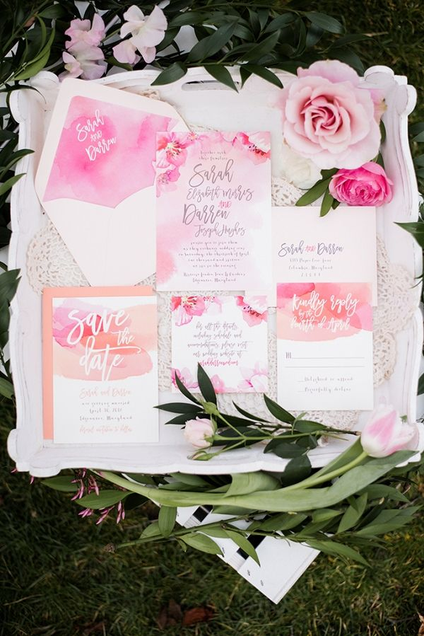 lotus flower wedding invitations%0A Cherry Blossom Wedding Inspiration