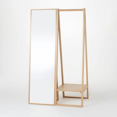 wood clothes rack 木製コートハンガー・タモ材/ナチュラル 幅44×奥行53.5×高さ150.5cm | 無印良品ネットストア