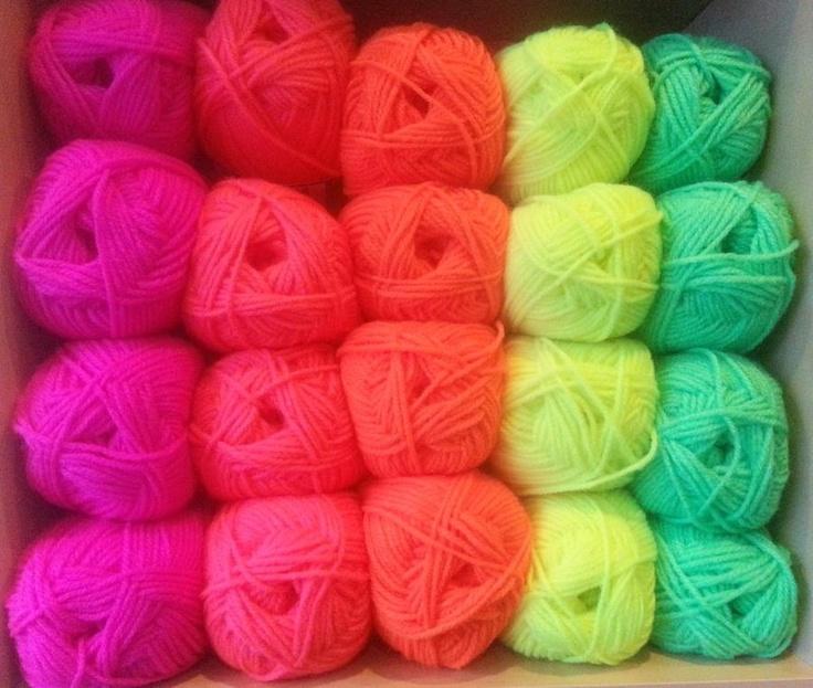 Neon knitting yarn. colors Pinterest