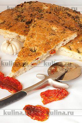 Фокачча с базиликом и томатами - рецепт с фото