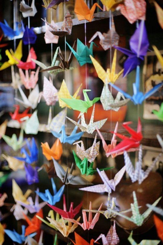 paper cranes....college dorm decor