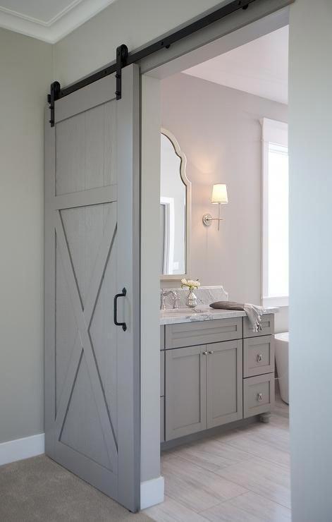 Barn Door For Bathroom | Barn Door Interior Doors | Closet ...