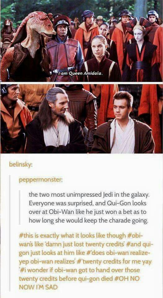 bet between obi wan and qui gon fandom funnies. Black Bedroom Furniture Sets. Home Design Ideas