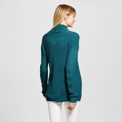 Women's Textured Open Layering Cardigan - Merona Blue L
