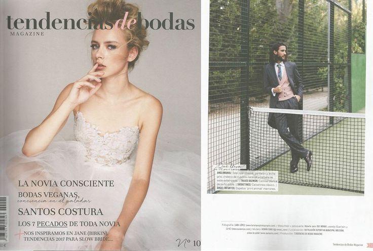 Maravillosa editorial en la revista Tendencias de Bodas. Zapatos: Angel Infantes