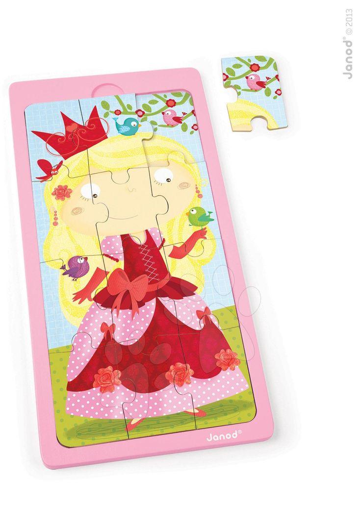 Skládá vaše holčička rádo puzzle? Janod dřevěné puzzle Princess Jessica potěší holčičky od 2 let. Puzzle ze dřeva se skládají z 9 dílků a mají motiv princezny.