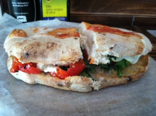 Vegetarian Delights of NYC: San Matteo Panuozzo's Burrata Sandwich.  Again, description of the method and contents of this mouthwatering vegetarian sandwich, but no real recipe per se.  Still enough to give inspiration to try to make one.