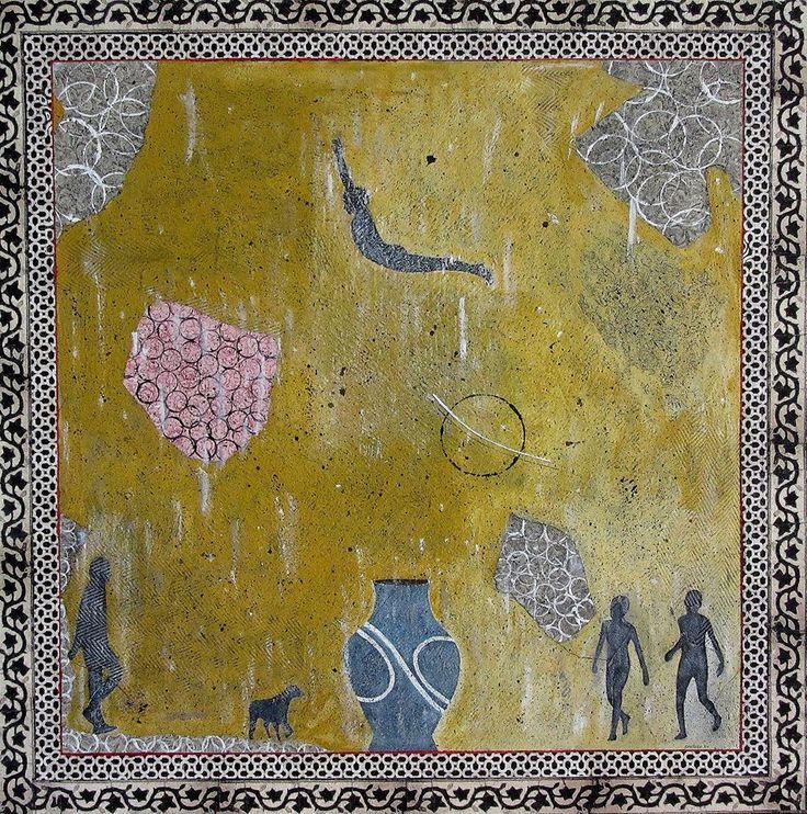 Naras - 100 cm x 100 cm  Mixed Media
