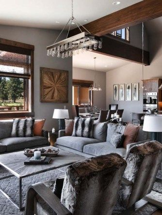 warm and relaxing mountain contemporary home in truckee interior rh pinterest com