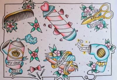 want a cute old school tattoo of something completely unrelated to …