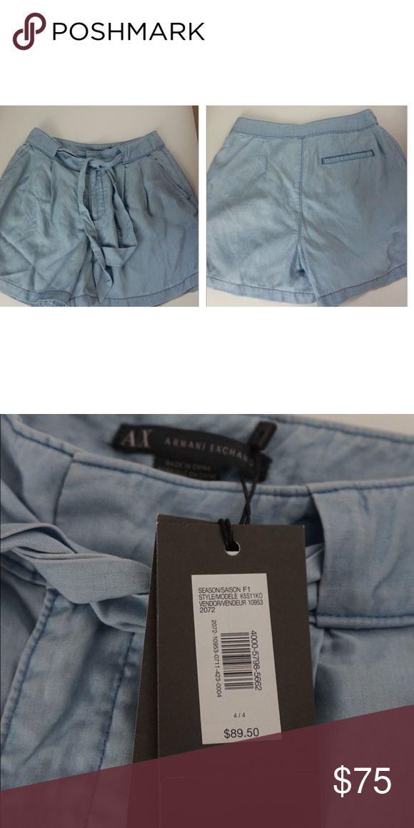 🆕 Armani exchange high waisted shorts Armani exchange high waisted shorts. Vintage inspired. A/X Armani Exchange Shorts