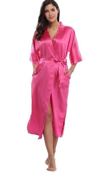 Women Diligent Womens Robe Silk Satin Robes Wedding Bridesmaid Bride Night Dressing Gown Kimono